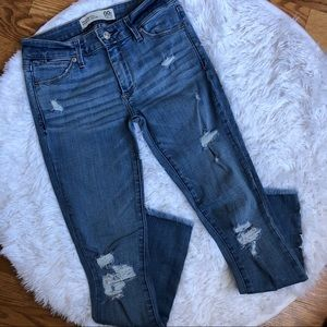 Abercrombie & Fitch Women's Mid- Rise Ankle Jeans